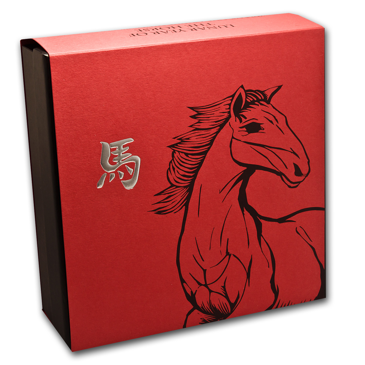 2014 Great Britain 5 oz Silver Year of the Horse Prf (Box & COA)